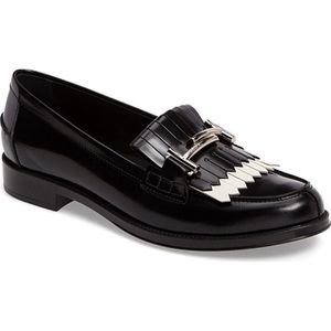 Tod's Fringed Double T Leather Loafers